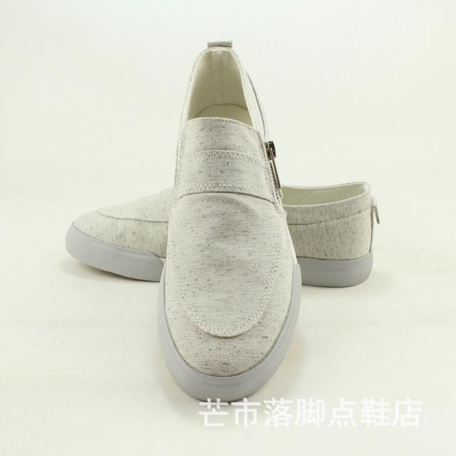 Giày lười vải khoá kéo