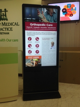 Màn hình quảng cáo dành cho bệnh viện