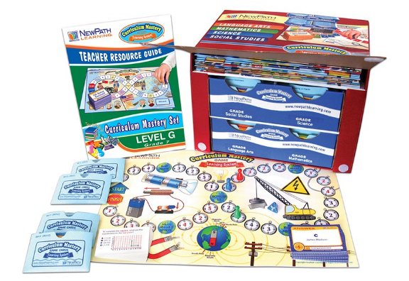 TEXAS Grade 7 Curriculum Mastery® Set - Language Arts, Math, Science & Social Studies