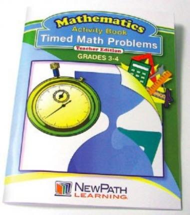 Timed Math Problems Series Workbook - Book 1 - Grades 3 - 4 - Print Version
