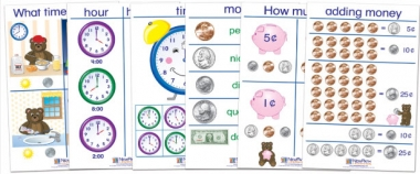 Time & Money Bulletin Board Chart Set of 6 - Early Childhood