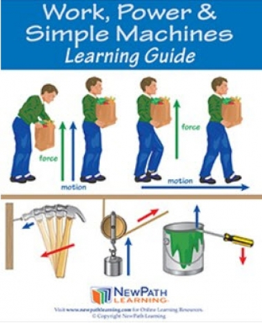 Work, Power & Simple Machines Student Learning Guide - Grades 6 - 10 - Downloadable eBook