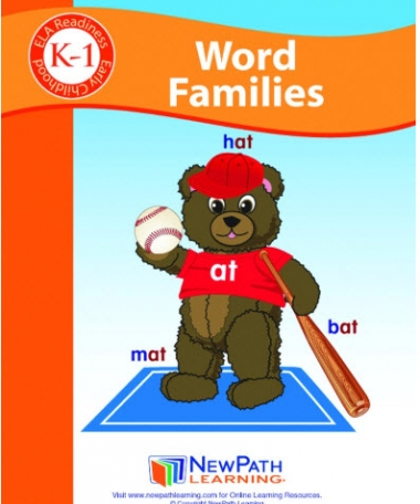 Word Families Student Activity Guide - Grades K-1 - Print Version set of 10