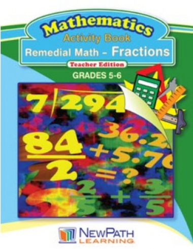 Remedial Math Series - Fractions Workbook - Grades 5 - 6 - Downloadable eBook