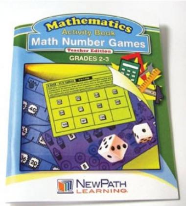 Math Number Games Workbook - Grades 2 - 3 - Print Version
