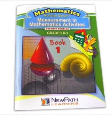 Measurement in Mathmatics Activities Series Workbook- Book 1 - Grades K - 1 - Print Version