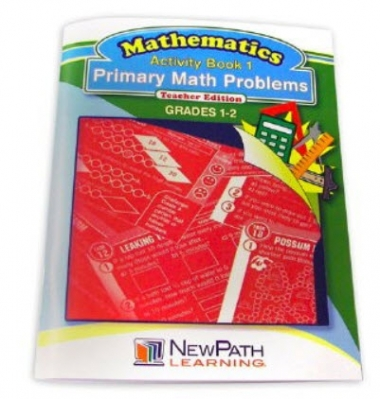 Primary Math Problems Series Workbook- Book 1 - Grades 1 - 2 - Print Version