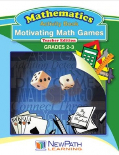 Motivating Math Games Workbook - Grades 2 - 3 - Downloadable eBook