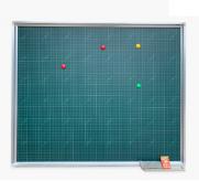 Bảng từ xanh Hàn Quốc kẻ ô ly tiểu học chuẩn Bộ Giáo Dục