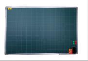 Bảng từ xanh Hàn Quốc kẻ ô ly tiểu học khung nhỏ N10