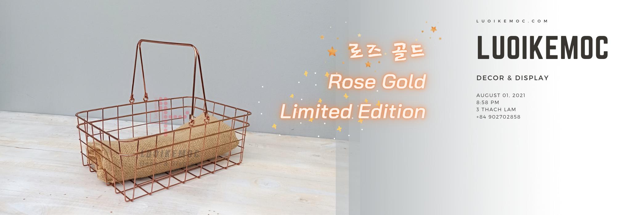 Giỏ siêu thị X2   Limited Edition - Rose Gold - 로즈 골드